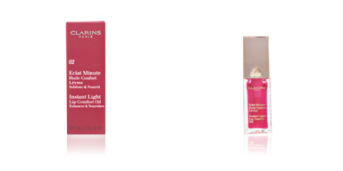 Clarins ECLAT MINUTE huile confort lèvres #02-strawberry 7 ml