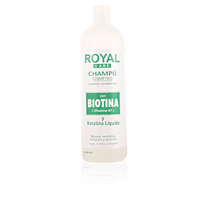 ROYAL CARE champú cosmético biotina & keratina 1000 ml